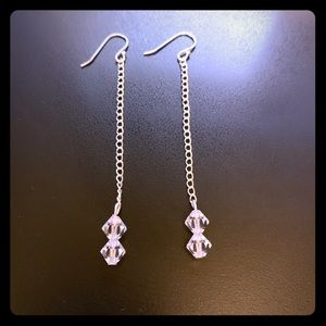 Sterling sliver earrings with crystal beads.